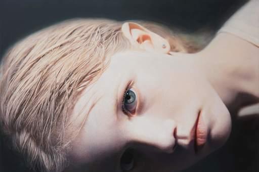 Gottfried HELNWEIN - Painting - Child 16 (Anna)