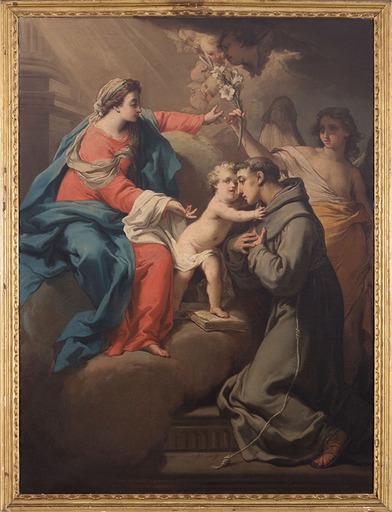 Gaetano GANDOLFI - Pintura - Visione di Sant'Antonio da Padova
