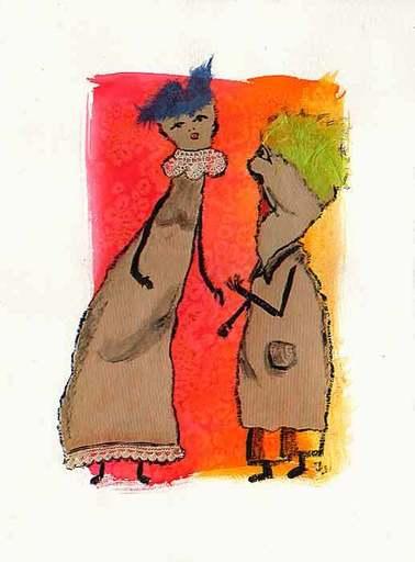 Jacotte SIBRE - Drawing-Watercolor - Les commères 4