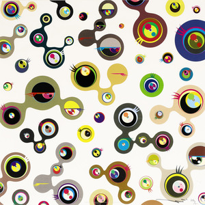 Takashi MURAKAMI, Jellyfish Eyes - White 4