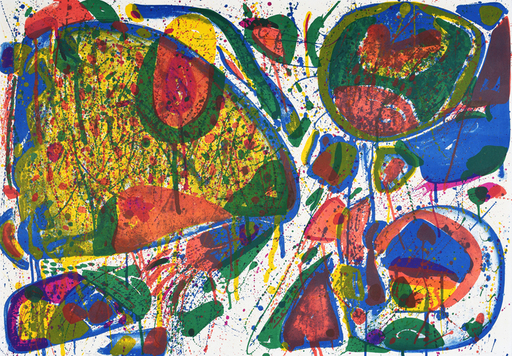 Sam FRANCIS - Estampe-Multiple - Bright Jade Ghost (Variant II)