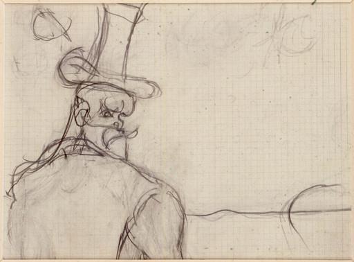 Osvaldo LICINI - Drawing-Watercolor - Ritratto di Leopardi