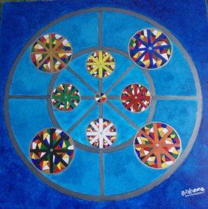 ATCHAMA - Painting - la force des couleurs