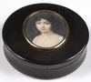 """Jean Baptiste ISABEY - Miniature - """"Round box with miniature portrait of a girl"""", 1800/05"""