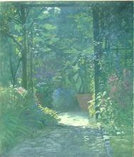 Dominique D'ORANGE - Pittura - Jardin intime