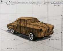 CHRISTO - Estampe-Multiple - Wrapped Automobile (Project for 1950 Studebaker Champion, Se