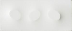 Turi SIMETI - Painting - Tre ovali in bianco