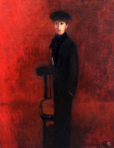 Levan URUSHADZE - Painting - Boy with a chair