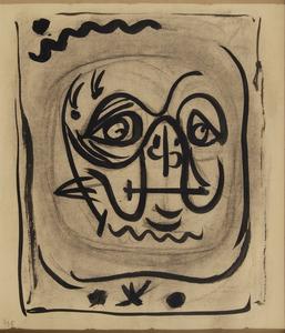 André MASSON - Zeichnung Aquarell - Tête de Tortue