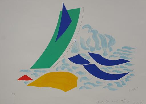 Olivier DEBRÉ - Estampe-Multiple - le voilier