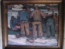Pierre DE BELAY - Painting - COIN DU PORT A CONCARNEAU