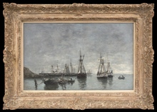 Eugène BOUDIN - Painting - Portrieux, le Matin, Marée Haute