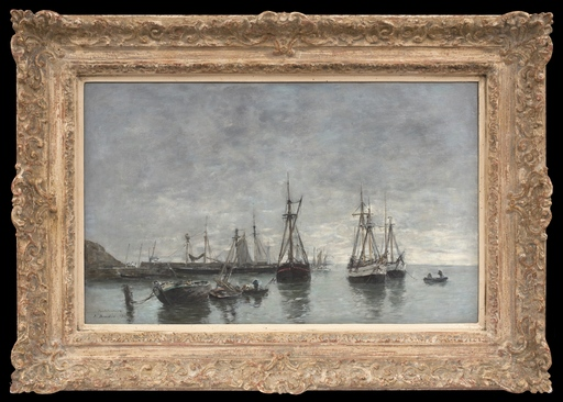 Eugène BOUDIN - Peinture - Portrieux, le Matin, Marée Haute