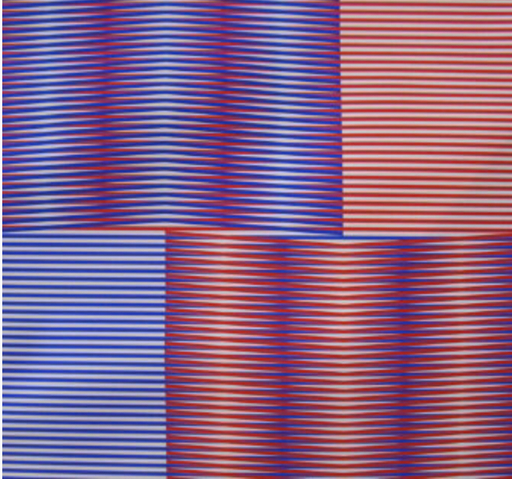 Carlos CRUZ-DIEZ - Estampe-Multiple - Induction chromatique (Red/Blue)