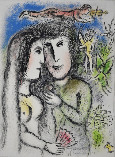 Marc CHAGALL - Estampe-Multiple - The Angel Violinist | L'Ange violoniste