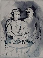 Aligi SASSU - Grabado - I giocatori di dadi, 1931