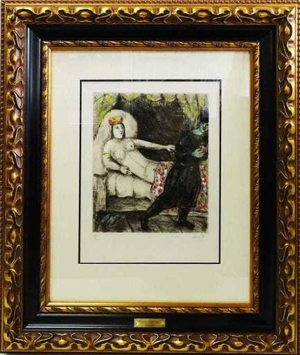 Marc CHAGALL - Grabado - Femme de Potiphar