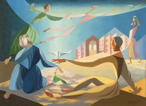 Léopold SURVAGE - Pittura - La colombe