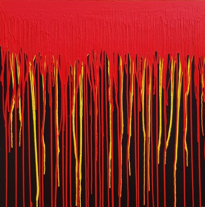 Giuseppe FORTUNATO - Peinture - Colate -100x100cm