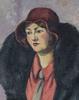 Ludovic Rodo PISSARRO - Painting - Femme à la cravatte