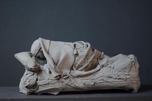 Georges JEANCLOS - Skulptur Volumen - Le Dormeur