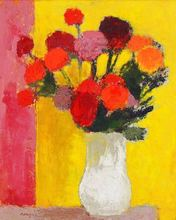 Bernard CATHELIN - Pintura - Les Dahlias