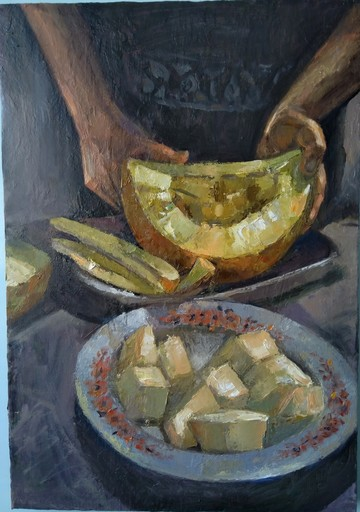 Ohanyan KAMSAR - Peinture -  Melon still life