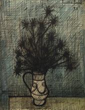 贝纳•毕费 - 水彩作品 - Fleurs dans un vase