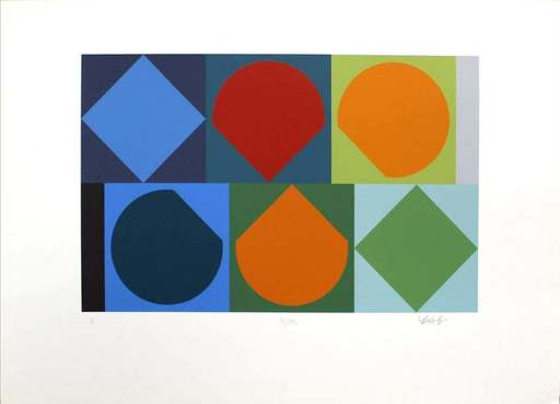 Victor VASARELY - Estampe-Multiple - Untitled II