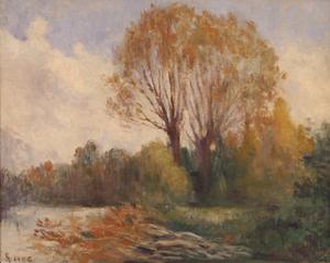 Maximilien LUCE - Peinture - Bords de Seine en automne