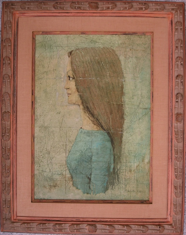 Ryonosuke FUKUI - Painting - Portrait of a young woman