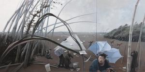 RU Xiaofan - Painting - Vent fort