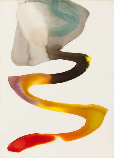 Paul JENKINS - Dibujo Acuarela - Phenomena painted desert, 1962