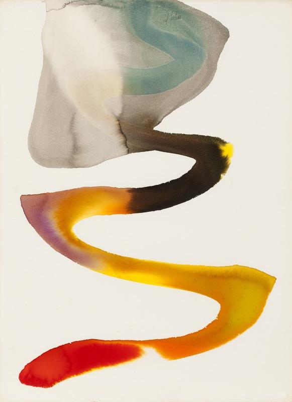 Paul JENKINS - Drawing-Watercolor - Phenomena painted desert, 1962