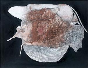Fred DEUX - Disegno Acquarello - Celui qui n'en revenait pas