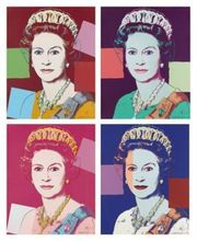 """Andy WARHOL (1928-1987) - reigning queens """"Queen Elizabeth II"""""""