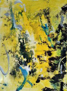 Huy NGUYEN - Peinture - Monotype jaune I