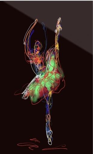 Nicole LEIDENFROST - Druckgrafik-Multiple - Dance Studies Nr. 5