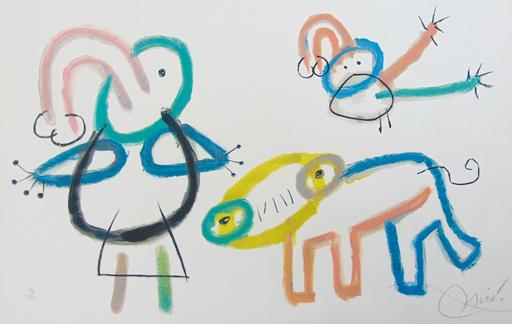 胡安·米罗 - 版画 - Composition XVI, from: Ubu's Childhood | L'Enfance d'Ubu