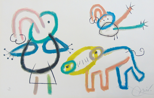 Joan MIRO - Estampe-Multiple - Composition XVI, from: Ubu's Childhood | L'Enfance d'Ubu