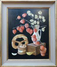 Helmuth FETZ - Peinture - Stillleben mit Bretzel
