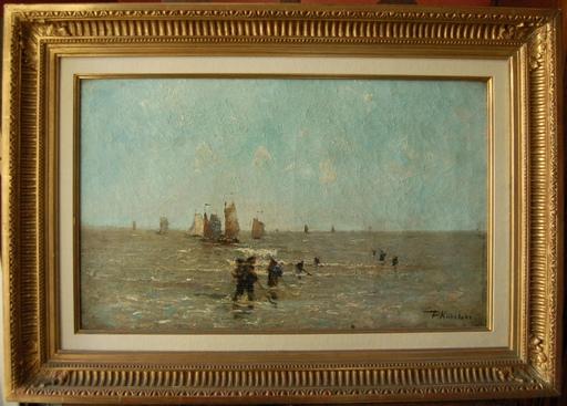 Paul KUHSTOSS - Painting - pêcheurs en Mer du Nord