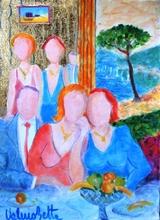 Valerio BETTA - Painting - Confidenze - prezzo promozionale- low price