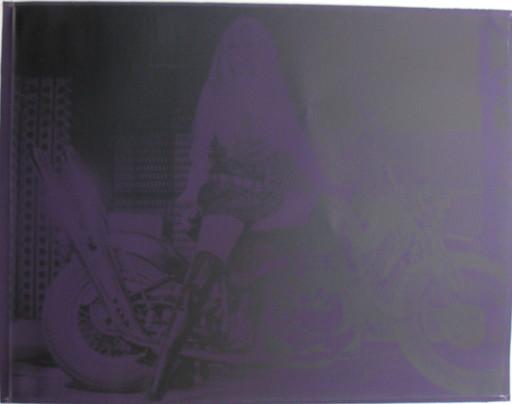 Russell YOUNG - Pintura - *Brigitte Bardot, purple