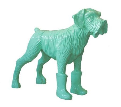 William SWEETLOVE - Sculpture-Volume - Cloned pistachio dog with plastic boots