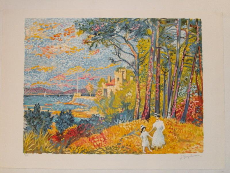 """Lucien NEUQUELMAN - Print-Multiple - """"La Maison de David Niven"""" 1984"""