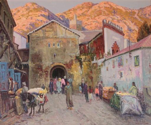 Manuel DE GRACIA - Painting - Puerta de la Medina (Chaouen)