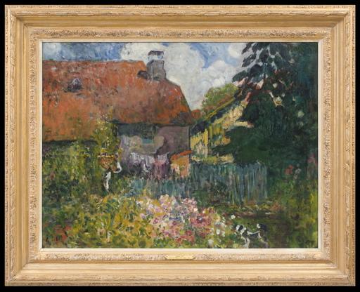 Louis VALTAT - Pintura - Paysan Devant une Ferme dans les Vosges