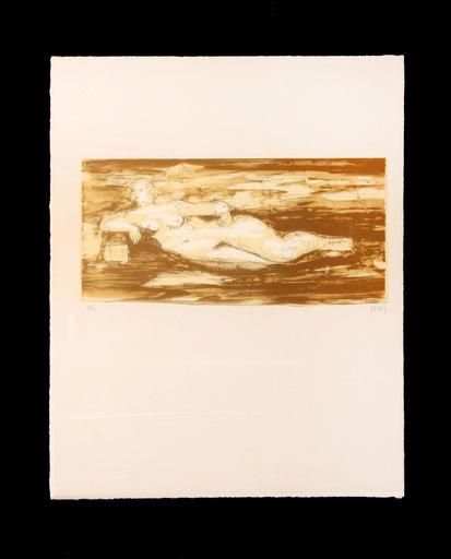 Henry MOORE - Druckgrafik-Multiple - Femme Allongee