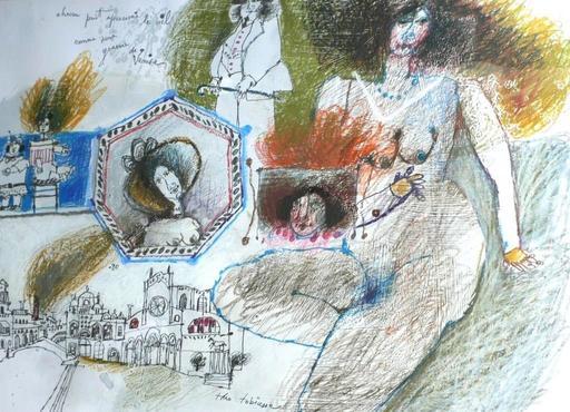 Théo TOBIASSE - Painting - Chacun peut apercevoir le ciel comme une gravure de Venise